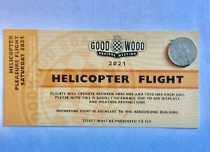 Goodwood Revival Souvenir Ticket  Saturday Helicopter Ride 2021