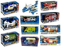 Teamsterz Light And Sound Kids Vehicle Toys Police Car / Ambulance Birthday Gift
