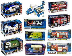 Teamsterz Light And Sound Kids Vehicle Toys Police Car / Ambulance / Fire Engine