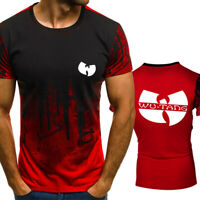 New Arrive Summer Fashion WU TANG Print Short Sleeve T-Shirt Casual Tops Tee