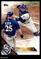 2016 Topps #677 Derek Norris Padres 8 - NM/MT