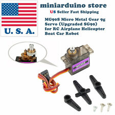 1 MG90S Micro Metal Gear 9g Servo for RC Airplane Helicopter Boat upgraded SG90