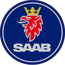 "#570 (2) 2"" SAAB emblem Decal Sticker 900 turbo 9000 9-3 9-5"