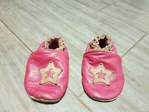 Schuhe Mädchen Schlappen Lederpuschen Gr 23 Hausschuhe