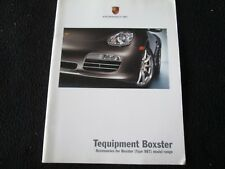 2007 Porsche Boxster &S Tequipment Brochure Accessories Wheels Spoilers Carbon