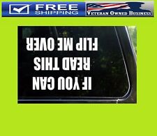 IF YOU CAN READ THIS FLIP ME OVER JEEP VINYL DIE CUT DECAL STICKER 4X4 Truck Mud