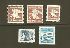 US Scott # 1946, 1947, 1948, 1949 and 2005 1981 - 1982 Regular Issues MNH