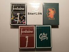 5 Decks Fontaine Playing Cards - Braindead, Babylon, Sticker, Good Co, Chocolate