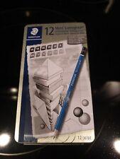 Staedtler Mars Lumograph Design & Drafting Graphite 12 Pencil Set Storage Tin