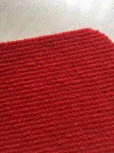 Auslegware Rips Nadelfilz Bodenbelag Teppichboden Farbe rot 1 x 6 m  REST T163