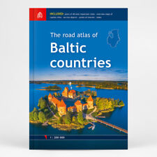 The Road Atlas of BALTIC COUNTRIES, 1:200 000, ed. 2018