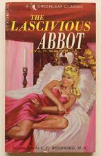 LASCIVIOUS ABBOT ~ GREENLEAF Classics~ ROBERT BONFILS ~Erotic Pulp Paperback GGA