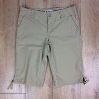 Columbia Women's Bermuda Shorts Size 6 Khaki Tie Accent Casual Outdoors J