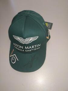 2021  SEBASTIAN VETTEL SIGNED ASTON MARTIN RACING AMR  F1  DRIVERS CAP NO.5