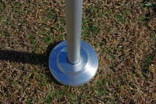 "Aluminum Silver Flagpole Valley Forge 2""  Flash Collar"