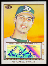 2009 TOPPS T-206 CERTIFIED AUTOGRAPH GIO GONZALEZ RC AUTO OAKLAND A'S ATHLETICS