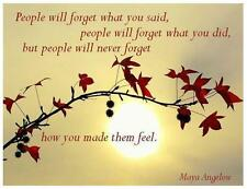 People Will Forget # 10 - 8 x 10 Tee Shirt Iron On Transfer Maya Angelou