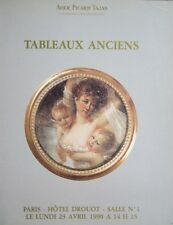 Catalogue TABLEAU ANCIEN Old master painting Peinture ancienne XVIIe XVIIIe 18th