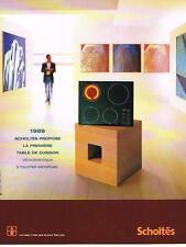 PUBLICITE ADVERTISING  2000   SCHOLTES   table cuisson vitrocéramique