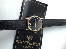 Lovely Women's Raymond Weil Gold Plated Watch ,Diamond Hour Markers, Box & Docs