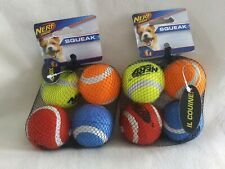 2 - 4 packs Nerf  Squeaker Tennis Ball Dog Toy Small and medium sizes available