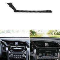 Car central control air outlet Down Carbon Fiber Sticker For Honda Civic 2016-19