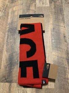The North Face Logo Red Black Reversible Scarf Brand New $50 MSRP