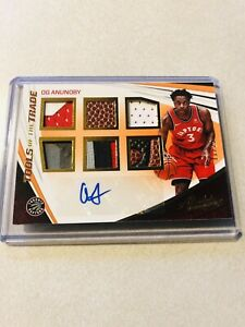 OG Anunoby 2017-18 Panini Absolute /25 Auto Patch Rookie SP RC RPA Raptors