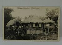Vintage HI Postcard Hawaiian Homes Island Hawaii Huts RPPC