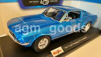 Maisto 1:18 Scale - Ford Mustang Fastback GTA 1967 - Diecast Model Car