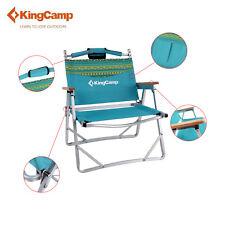 KingCamp Folding Camping Chair Wooden Armrest Lightweight Portable Outdoor Beach