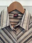O?neill womes shirt size L excellent condition cotton and linen brown