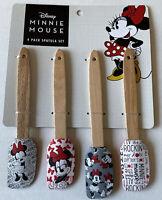 NEW Disney Minnie Mouse 4 Pack Mini Spatula Set