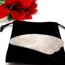 Pro Natural Quartz Gua Sha Board Face Body Care Scraping Spa Massage Tool