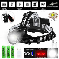 990000LM XHP70 XHP90 LED Headlamp Ultra Bright USB Rechargeable Headlight Torch