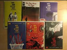 We Can Never Go Home 1 5 2 3 4 1st Prints Cover A + 2nd Print Black Mask Signed