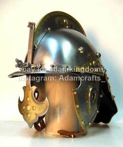 Medieval 2.5mm Steel Zischage of winged-hussar Helmet