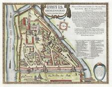 1642 Gerritsz and Blaeu City Map or Plan of the Kremlin in Moscow, Russia