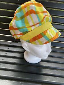 Vintage Hat MR JOHN JR Retro Designer Cabbie Newsboy 60s 70s Union Made Yellow