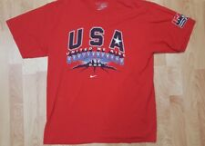 Men's Red Large Usa Basketball 2008 Nike Team Short Sleeve Cotton Shirt Guc