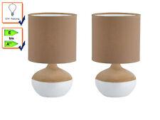 35cm LED Tischlampe Tischleuchten H 2er Set LED Tischleuchte LATOUR Chrom