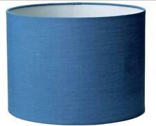 18X25cm BLUE LONG Round Drum Shape Light Shade Hang Pendant Kid Room Lounge Deco