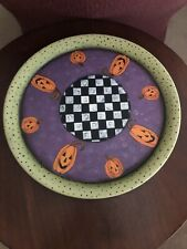 Hand Painted Metal Halloween Tray