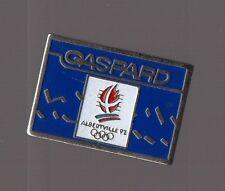 pin's Jeux olympiques Albertville 92 / Gaspard (version bleue COJO 1991)