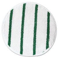 "Rubbermaid Commercial Low Profile Scrub-Strip Carpet Bonnet 17"" Diameter White"
