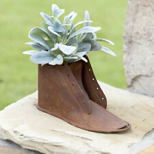 Primitive new distressed rusty brown metal BOOT Planter