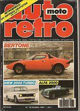 AUTO RETRO 78 DOSSIER BERTONE BMW 2002 TURBO ALFA ROMEO 6C 2500 AC COBRA 289