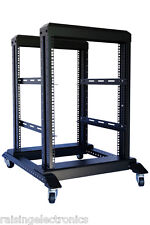 "15U 4 Post Open Frame 19"" Server/Audio Steel Data Network Rack 24"" Deep 800MM"