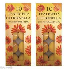 20 x Prices Citronella Garden Tealight Candle Candles  2x10