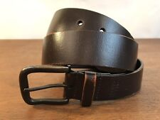 Levis Brown Leather Belt with Metal Buckle Mens Size 36